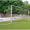 Aluminium Football Goal, 7.32x2.44 m, Socketed with Bolted Mitre Joints
