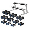 Sport-Thieme® Compact PU Dumbbell Set, 2.5-25 kg, incl. dumbbell stand