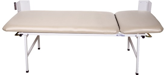 2-Piece Folding Examination Couch Beige