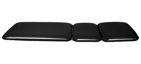 3-Part Fold-Up Couch Black