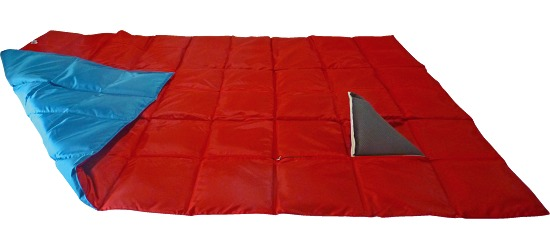 Enste Physioform Reha Weighted Blanket 198x126 cm, blue/red, Suratec outer cover