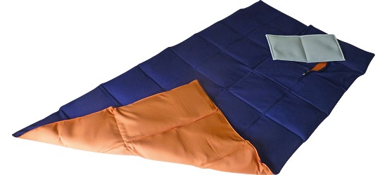 Enste Physioform Reha Weighted Blanket 180x90 cm, dark blue/terracotta, Cotton outer cover