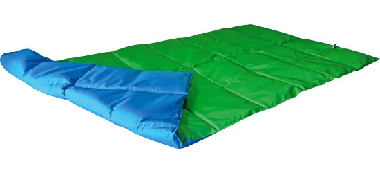 Enste® Weighted Blanket 180x90 cm, green/blue, Suratec outer cover
