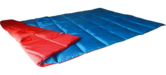 Enste® Weighted Blanket 198x126 cm, blue/red, Suratec outer cover