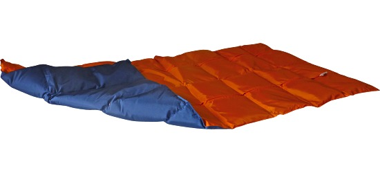 Enste® Weighted Blanket 144x72 cm, orange/dark blue, Suratec outer cover