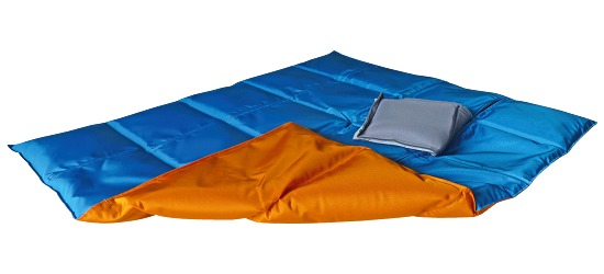 Enste® Weighted Blanket 90x72 cm, orange/blue, Suratec outer cover