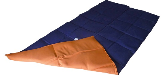 Enste® Weighted Blanket 180x90 cm, dark blue/terracotta, Cotton outer cover