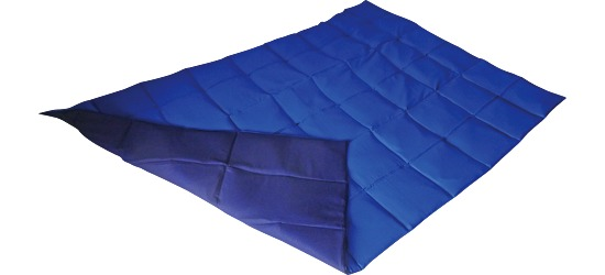 Enste® Weighted Blanket 198x126 cm, blue/dark blue, Cotton outer cover