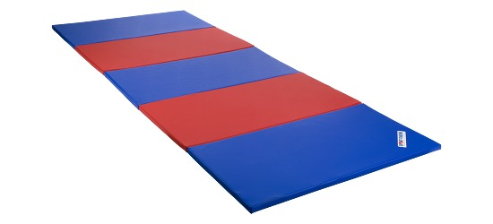 Sport-Thieme Folding Mat 300x120x3 cm, Blue/red
