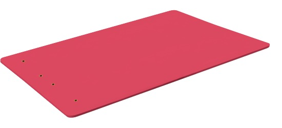 """Sport-Thieme """"Studio 15"""" Exercise Mat With eyelets, Red"""