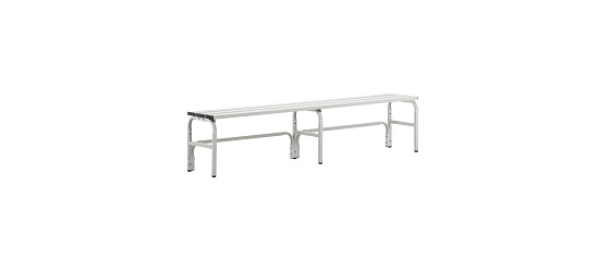 Sypro Wolf® Changing Bench for Damp Areas without Backrest 2.00 m, Without shoe shelf