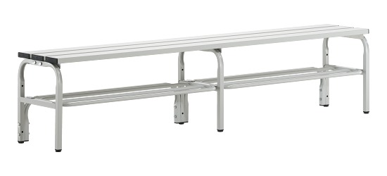 Sypro Wolf® Changing Benches for Wet Areas without Backrest 1.50 m, With shoe shelf