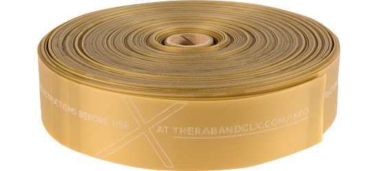 TheraBand® CLX™ Band, 22 m Roll Gold, maximum
