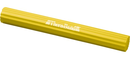 TheraBand Flexible Training Bar Yellow, 0.7 kg