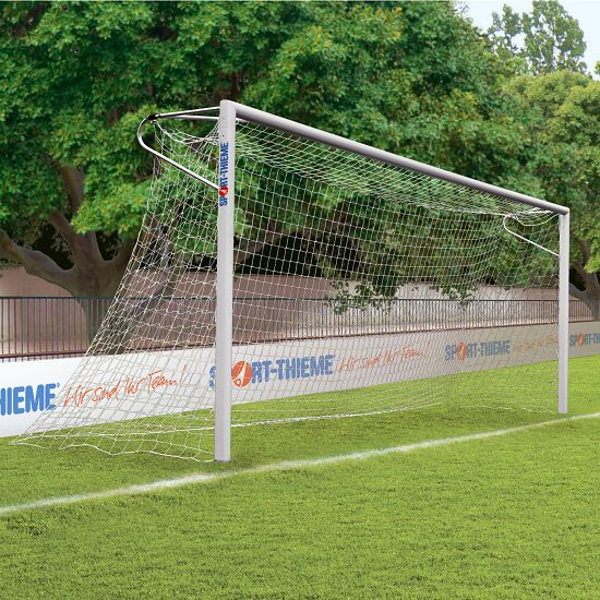Aluminium Football Goal, 7.32x2.44 m, with Welded Corners, Socketed Net fastening rail