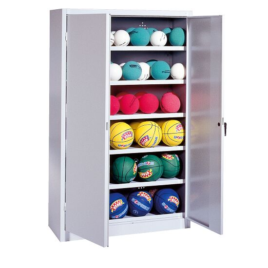 Ball Cabinet, HxWxD 195x93x40 cm, with Sheet Metal Double Doors (type 3) Light grey (RAL 7035), Light grey (RAL 7035)