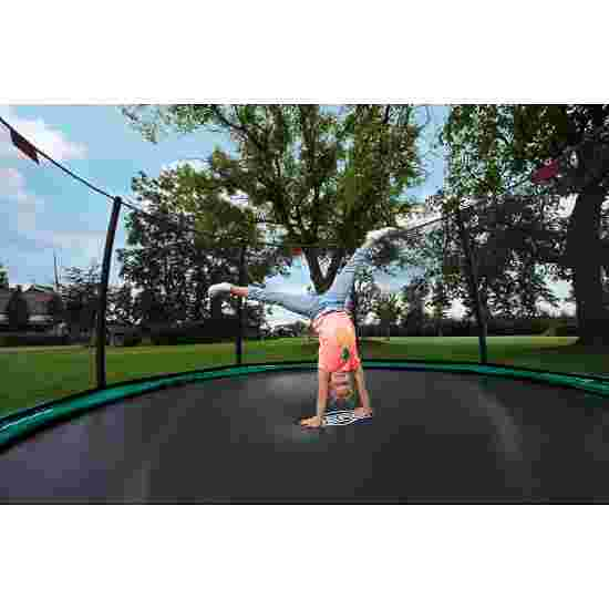"""Berg """"Champion"""" InGround Trampoline with Deluxe Safety Net Trampoline Green edge cover, 270 cm"""