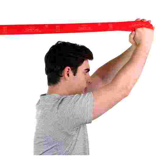 """CanDo Multi-Grip """"Exerciser Roll"""" Exercise Band Red, medium"""
