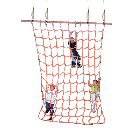 Climbing Net for Gymnastics Rings Polypropylene, orange