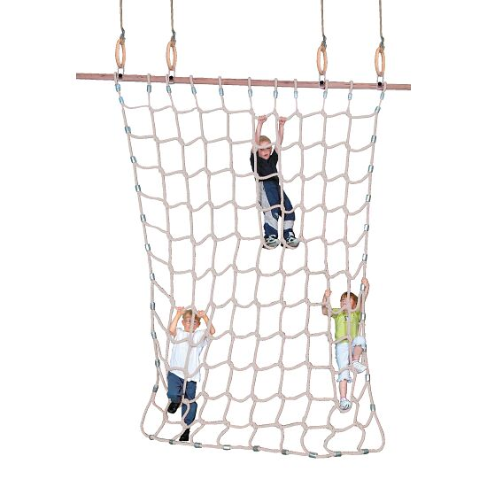 Climbing Net for Gymnastics Rings Natural spinning fibre