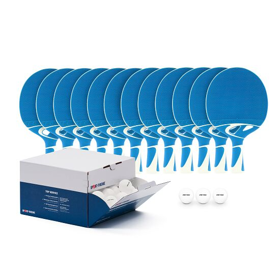 "Cornilleau® ""Tacteo 30 Outdoor"" Table Tennis Bat Set White balls"