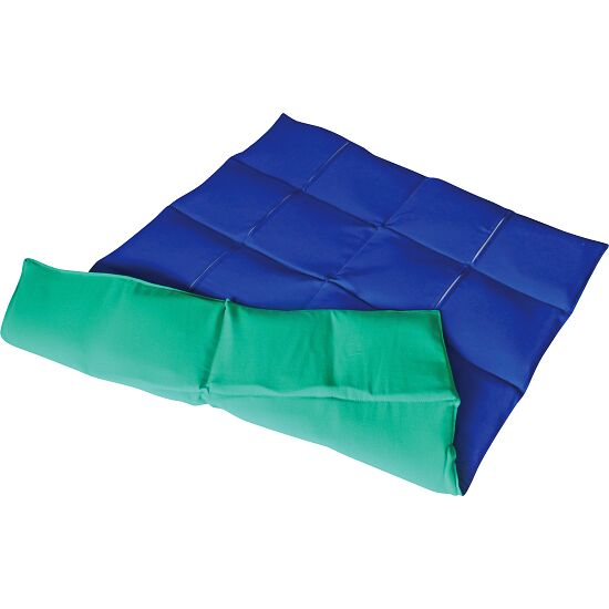 Enste® Weighted Blanket 90x72 cm, green/blue, Cotton outer cover