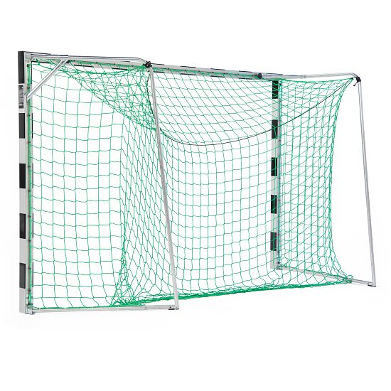 Handball Goal 3x2 m, stands in ground sockets Bolted corner joints, Black/silver