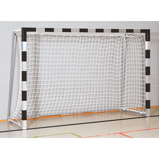 Handball Goal 3x2 m, stands in ground sockets Welded corner joints, Black/silver