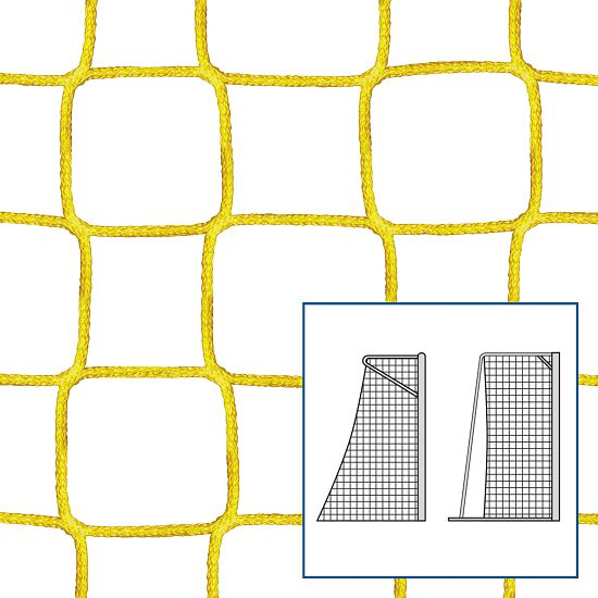 Knotless Net for Small Pitch and Handball Goals Yellow, 4 mm