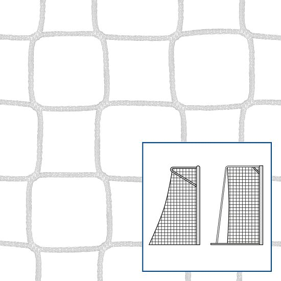 Knotless Net for Small Pitch and Handball Goals White, 4 mm