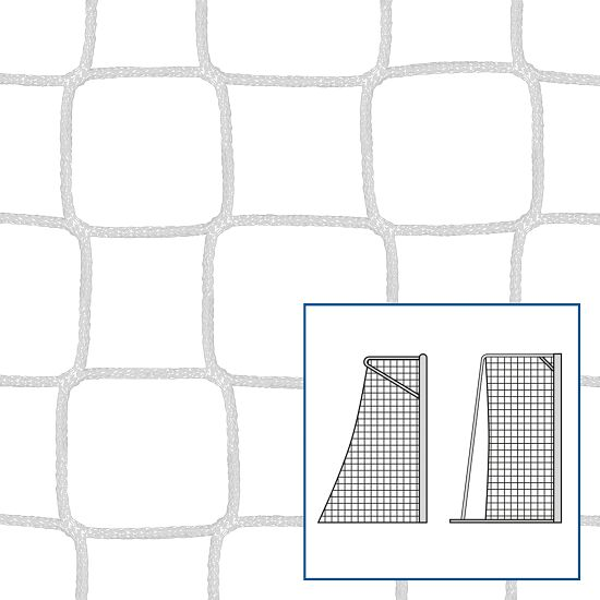 Knotless Net for Small Pitch and Handball Goals White, 5 mm