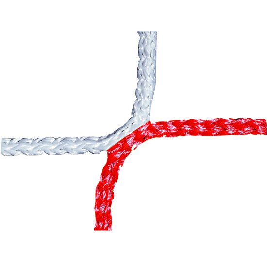 Knotless Youth Football Goal Net, 515x205 cm Red/white