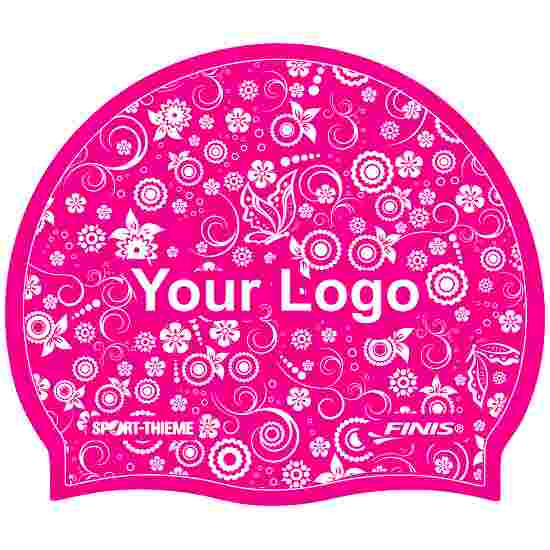 Latex Printed Swimming Cap Pink, One-sided