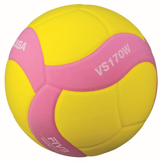 """Mikasa """"VS170W-Y-BL Light"""" Volleyball Yellow/pink"""