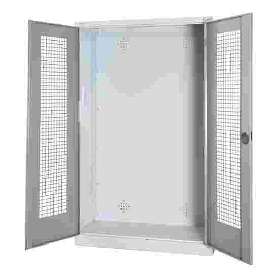 Modular Sports Equipment Cabinet, HxWxD 195x120x50 cm, with Perforated Sheet Double Doors Light grey (RAL 7035), Light grey (RAL 7035)