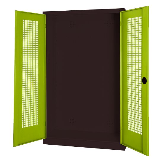 Modular Sports Equipment Cabinet, HxWxD 195x120x50 cm, with Perforated Sheet Double Doors Viridian green (RDS 110 80 60), Anthracite (RAL 7021)