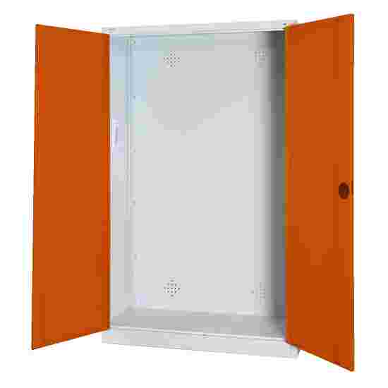 Modular Sports Equipment Cabinet, HxWxD 195x120x50 cm, with Sheet Metal Double Doors Sienna red (RDS 050 40 50), Light grey (RAL 7035)
