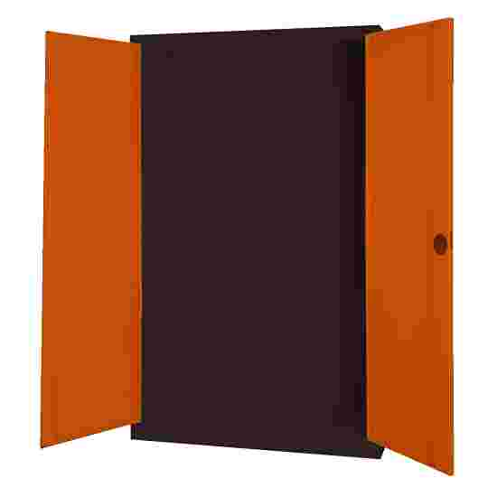 Modular Sports Equipment Cabinet, HxWxD 195x120x50 cm, with Sheet Metal Double Doors Sienna red (RDS 050 40 50), Anthracite (RAL 7021)