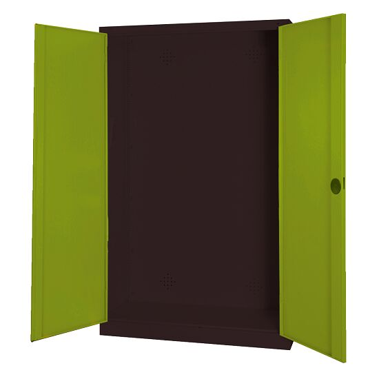 Modular Sports Equipment Cabinet, HxWxD 195x120x50 cm, with Sheet Metal Double Doors Viridian green (RDS 110 80 60), Anthracite (RAL 7021)