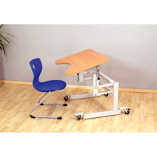 "Möckel ""ergo S 52 R"" Therapy Table Castors with brakes, Beech-effect"