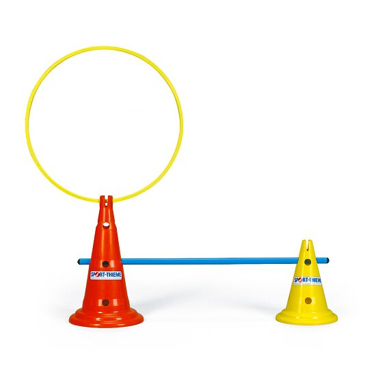 Multi-Purpose Cones Yellow, 30 cm, 8 holes