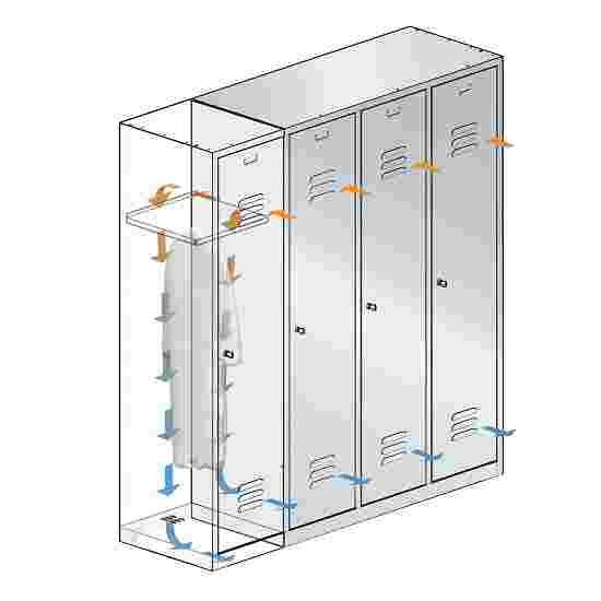 """""""S 2000 Classic"""" Double Lockers with 100-mm-high Base 180x61x50 cm/ 4 shelves, 30 cm"""