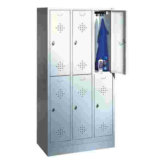 """""""S 2000 Classic"""" Double Lockers with 100-mm-high Base 180x90x50 cm/ 6 shelves, 30 cm"""