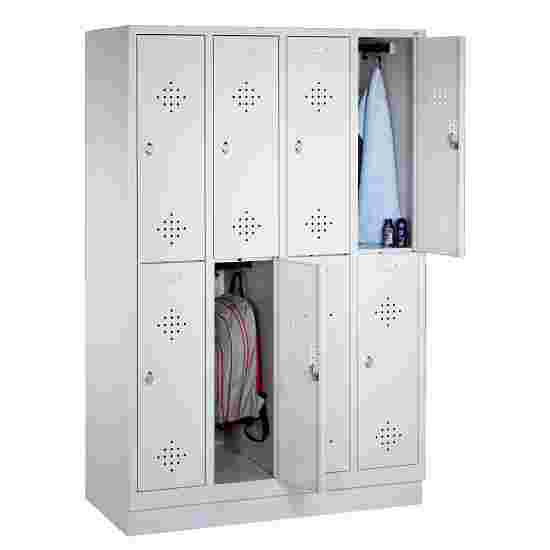 """""""S 2000 Classic"""" Double Lockers with 100-mm-high Base 180x119x50 cm/ 8 shelves, 30 cm"""