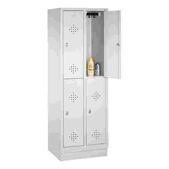 """""""S 2000 Classic"""" Double Lockers with 100-mm-high Base 180x81x50 cm/ 4 shelves, 40 cm"""
