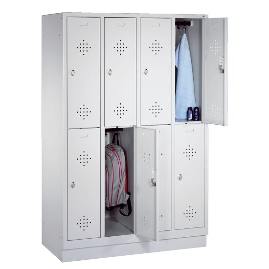 """S 2000 Classic"" Double Lockers with 100-mm-high Base 180x159x50 cm/ 8 shelves, 40 cm"