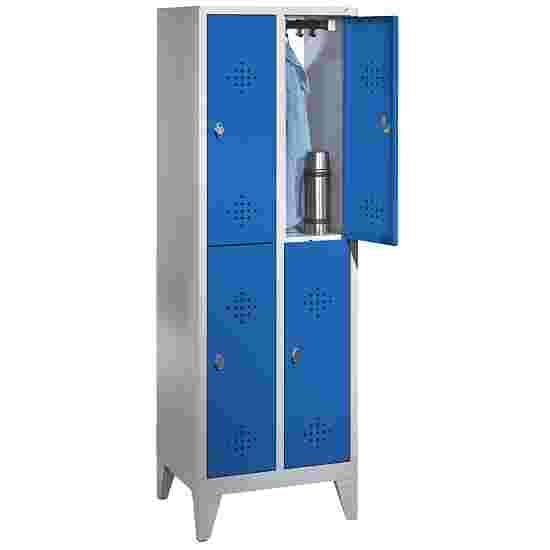 """""""S 2000 Classic"""" Double Lockers with 150-mm-high Feet 185x61x50 cm / 4 shelves, 30 cm"""