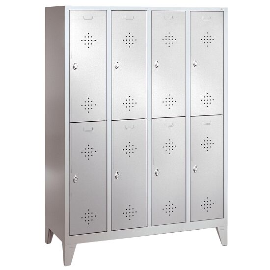 """S 2000 Classic"" Double Lockers with 150-mm-high Feet 185x119x50 cm/ 8 shelves, 300 mm"