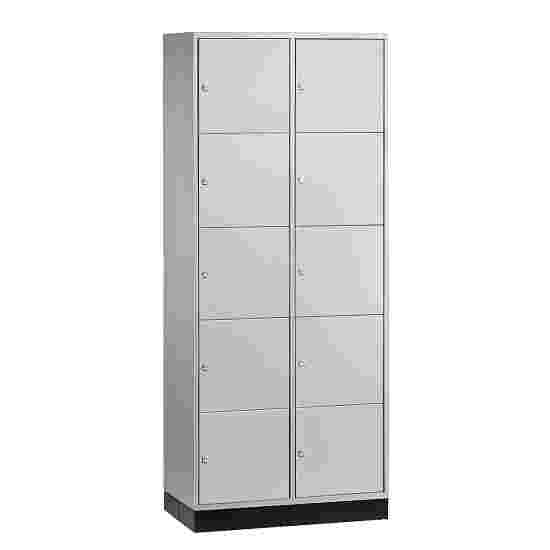 """""""S 4000 Intro"""" Compartment Locker (5 compartments on top of one another) 195x62x49cm/ 10 compartments, Light grey (RAL 7035)"""