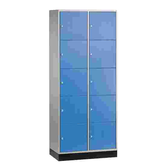 """""""S 4000 Intro"""" Compartment Locker (5 compartments on top of one another) 195x62x49cm/ 10 compartments, Gentian blue (RAL 5010)"""